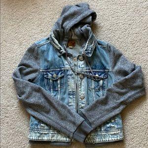 Super cute sweatshirt jean jacket